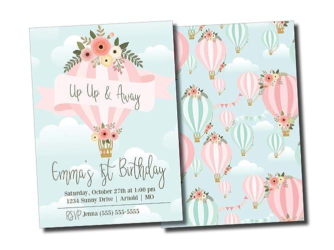 Amazon hot air balloon birthday party invitation hot air balloon birthday party invitation personalized filmwisefo