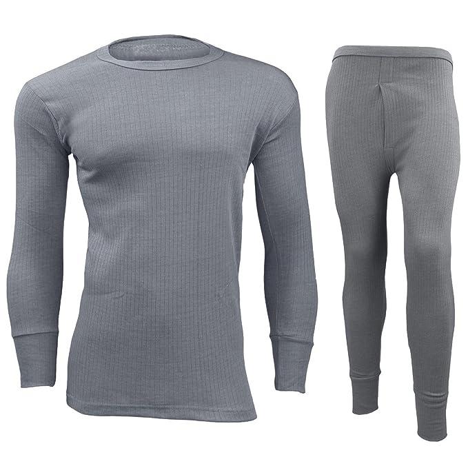 Sets 2 Long Sleeve Vests /& 2 Long Johns Mens Thermal Underwear Thermals
