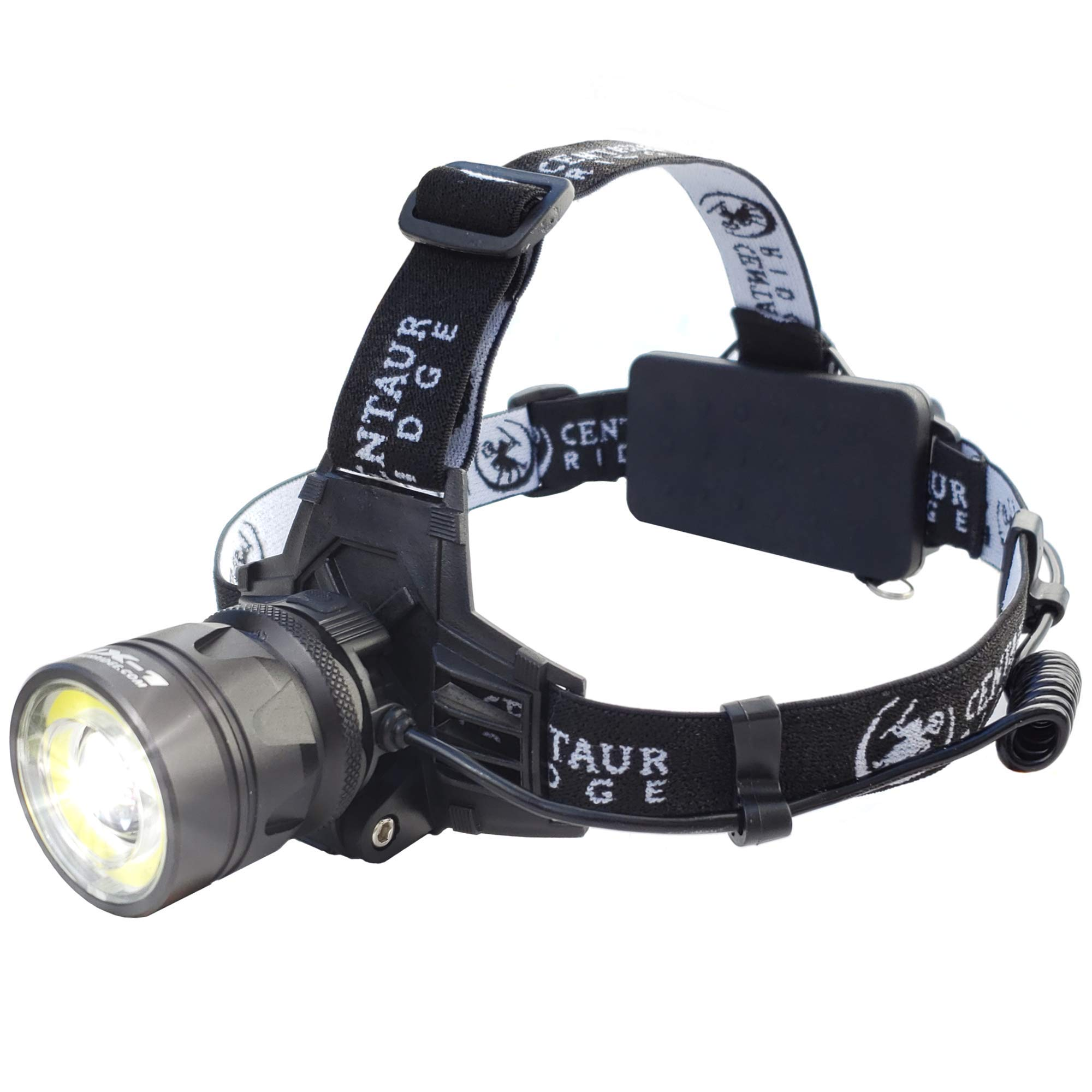 Centaur Ridge Headlamp - Xtreme Bright, 1000 Lumen CREE LED, Zoomable, USB Rechargeable | Best Flashlight for Camping, Hiking, Running, Work by Centaur Ridge (Image #1)