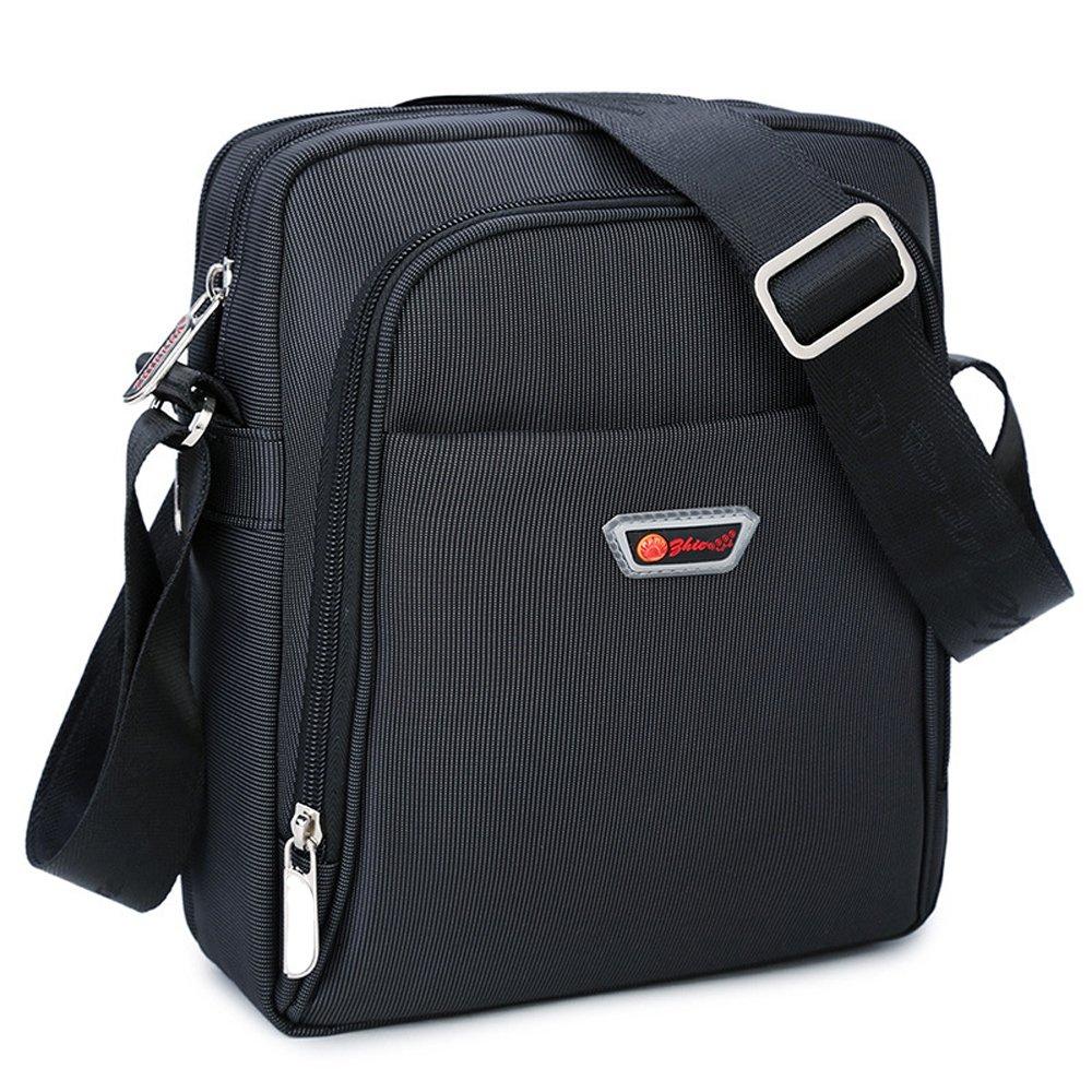 Umhängetasche klein Herren schwarz Schultertasche Urlaub Schultasche Reise Herrentaschen Messenger Bag Crossover Maxtempo