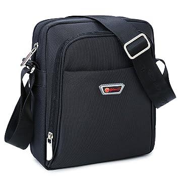 39464f7d9c7f6 Umhängetasche klein Herren schwarz Schultertasche Urlaub Schultasche Reise  Herrentaschen Messenger Bag Crossover