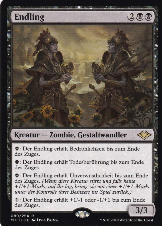 89 254 - Endling - Rare - Magic  The Gathering - Modern  Horizonte - Deutsch - im Set mit Ultra Pro Toploader und Ultra Pro Schutzhülle (Klarsicht)