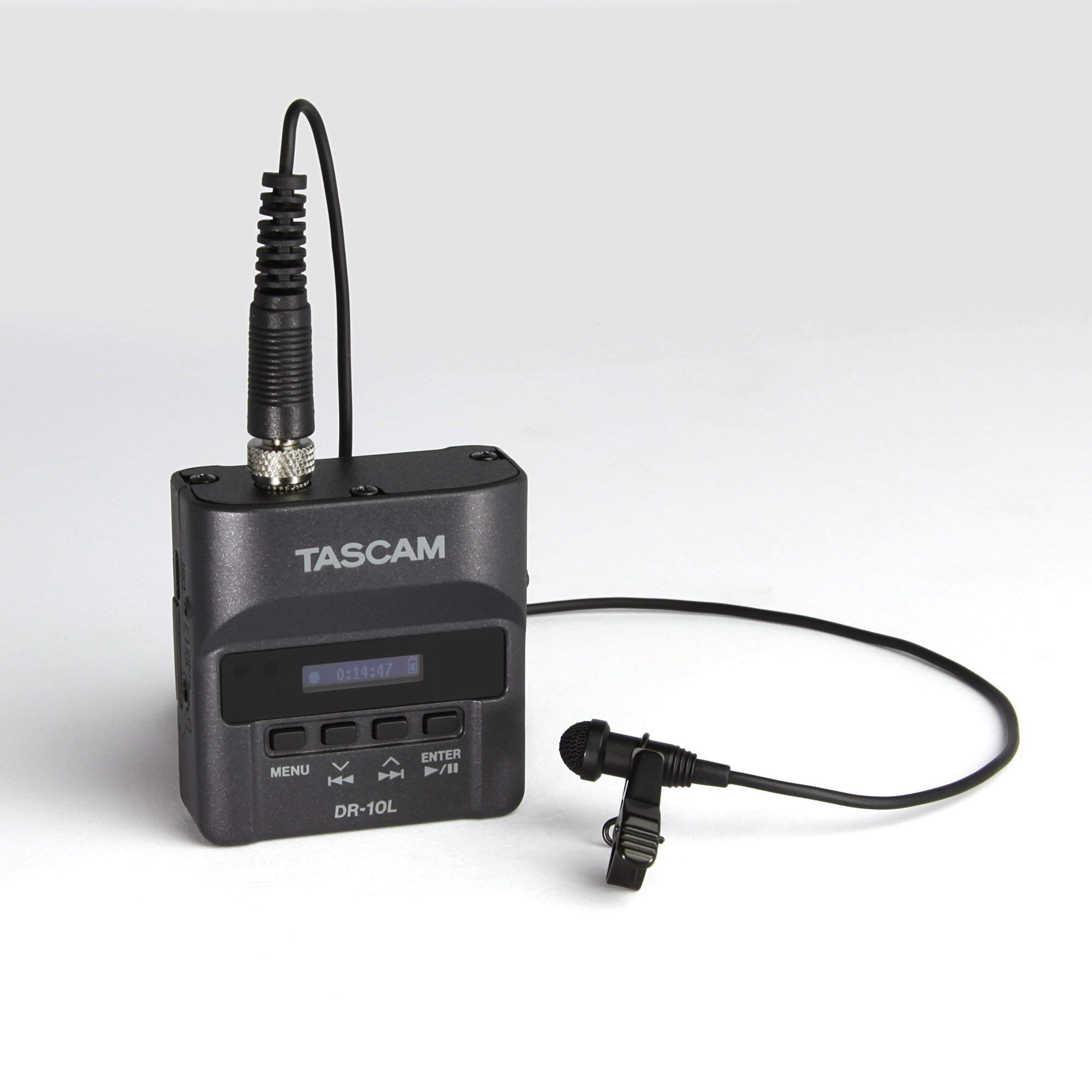 Tascam DR-10L Portable Digital Audio Recorder with Lavalier Microphone (Renewed)
