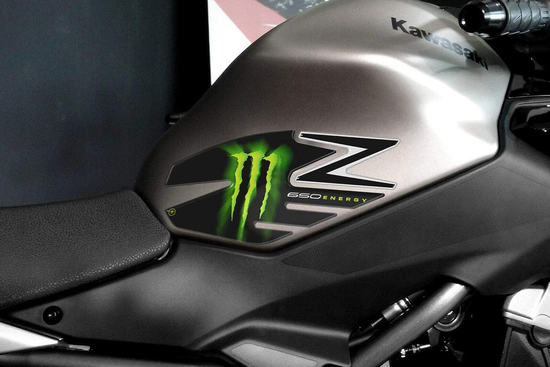 Carbone Gris Kit Autocollant R/ésine Gel 3D Protections Compatible avec Kawasaki Z650