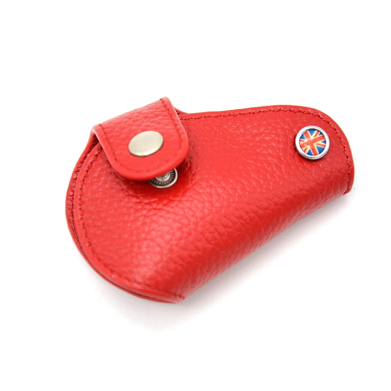 F60 y F56 F54 F57 Oldbones Red Unionjack Funda de piel para llave Mini Cooper F55