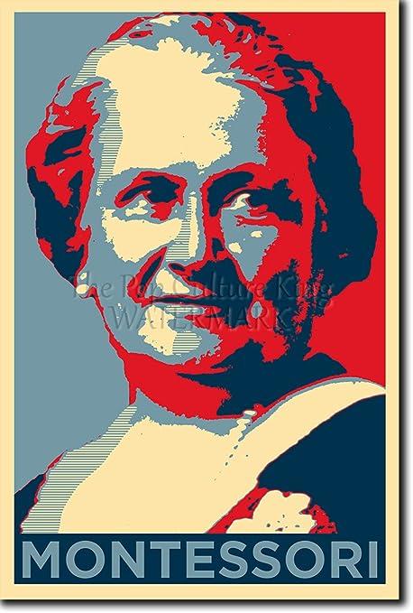 The Pop Culture King Maria Montessori Stampa Artistica Parodia di Obama Hope Poster Fotografico Idea Regalo Cartellone 30 x 20 cm