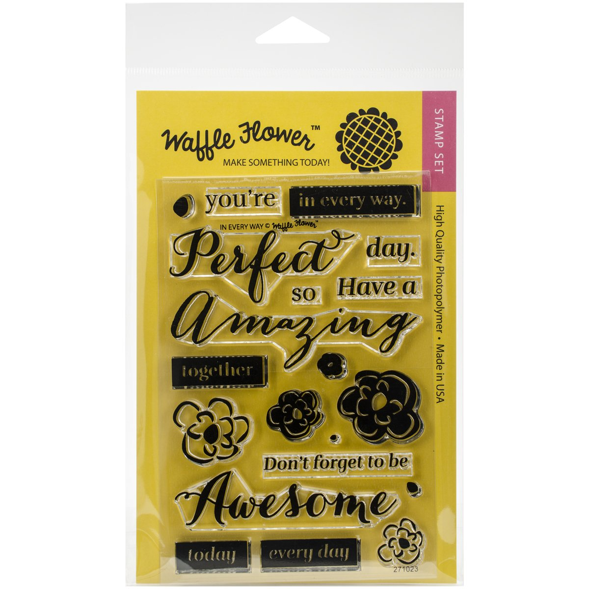 Waffle Flower Crafts Clear Stamps in Every Way, 4 X 6 4 X 6 271023