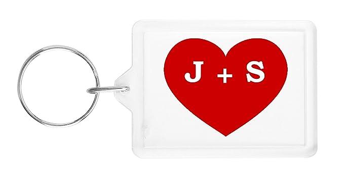 I Heart J S Love Key Ring Amazon Clothing