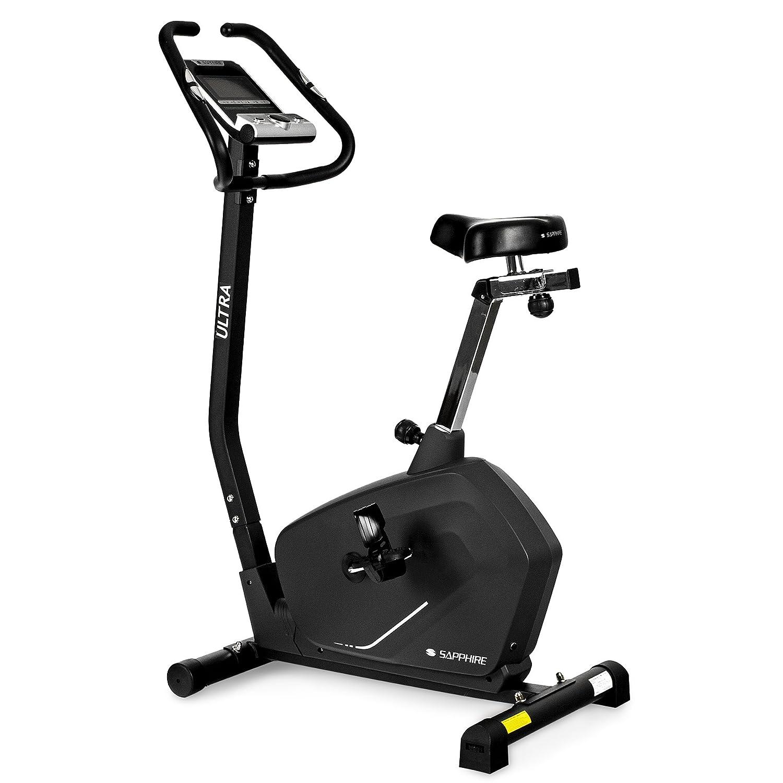 Xylo-Sapphire Heimtrainer Fahrrad Ergometer Trimmrad Bike Fitnessbike Cardio Trimmrad Ergometer Elektro bis150KG 4f8427