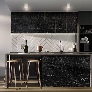 KINLO 2 Stück 0.61 x 5 m Aufkleber Küchenschränke Selbstklebende PVC ...