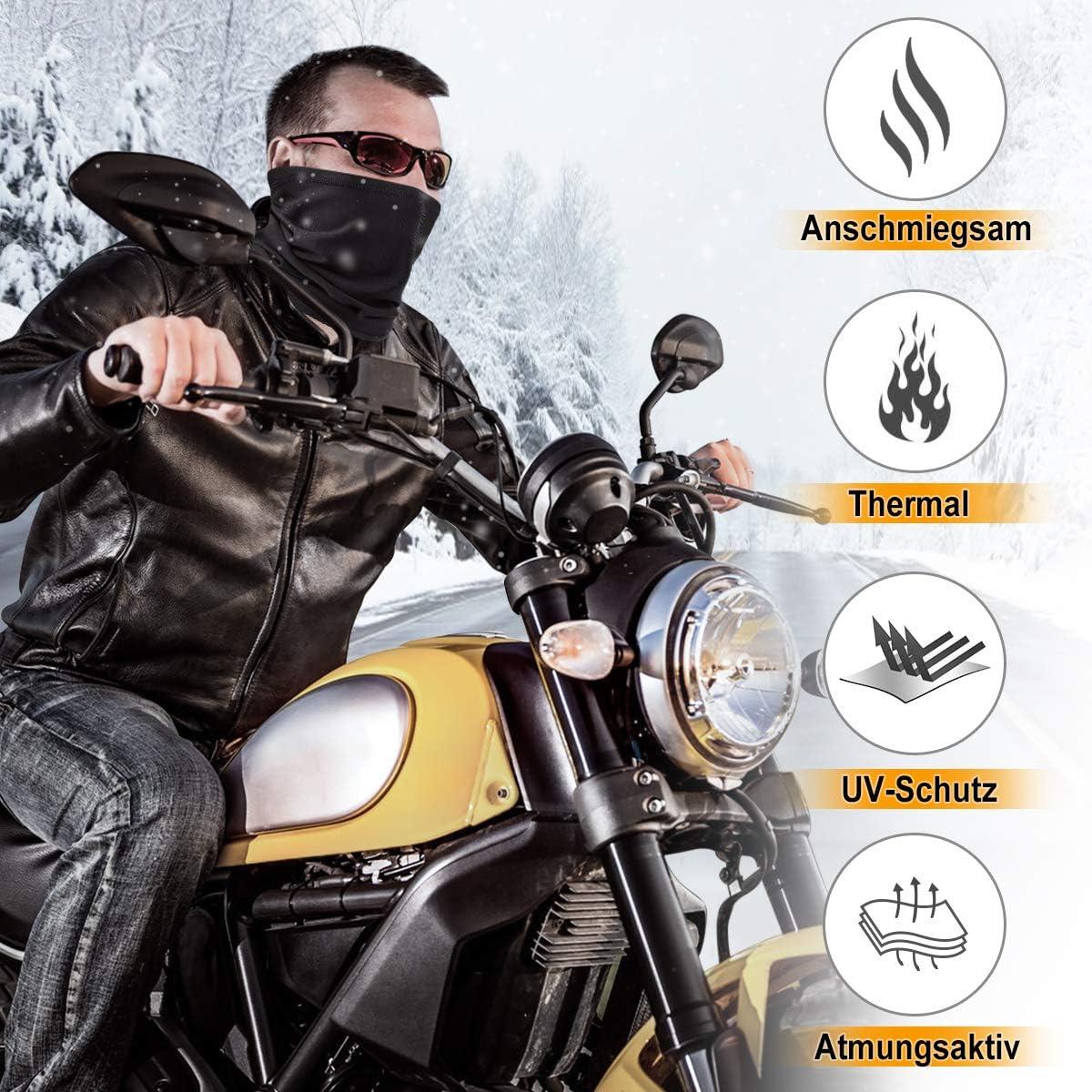 HASAGEI Calentadores de cuello Mascarilla Pasamonta/ñas de Forro Polar Multifuncional para Hombre y Mujer para Esqu/í Ciclismo Senderismo Moto Correr Aire Libre
