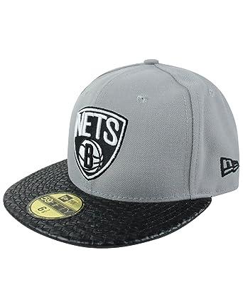 Amazon.com  New Era 59Fifty NBA Brooklyn Nets Cap  Clothing 98d5d679bb35