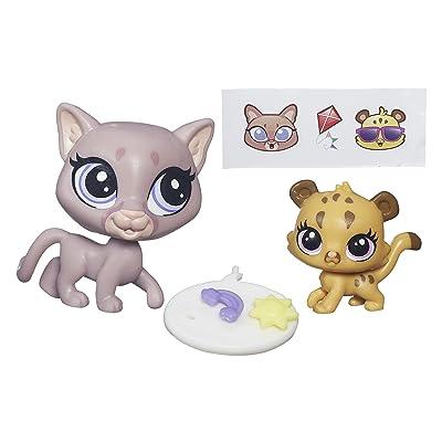 Littlest Pet Shop Pet Pawsabilities Sunny Cougar & Cubby Cougar: Toys & Games