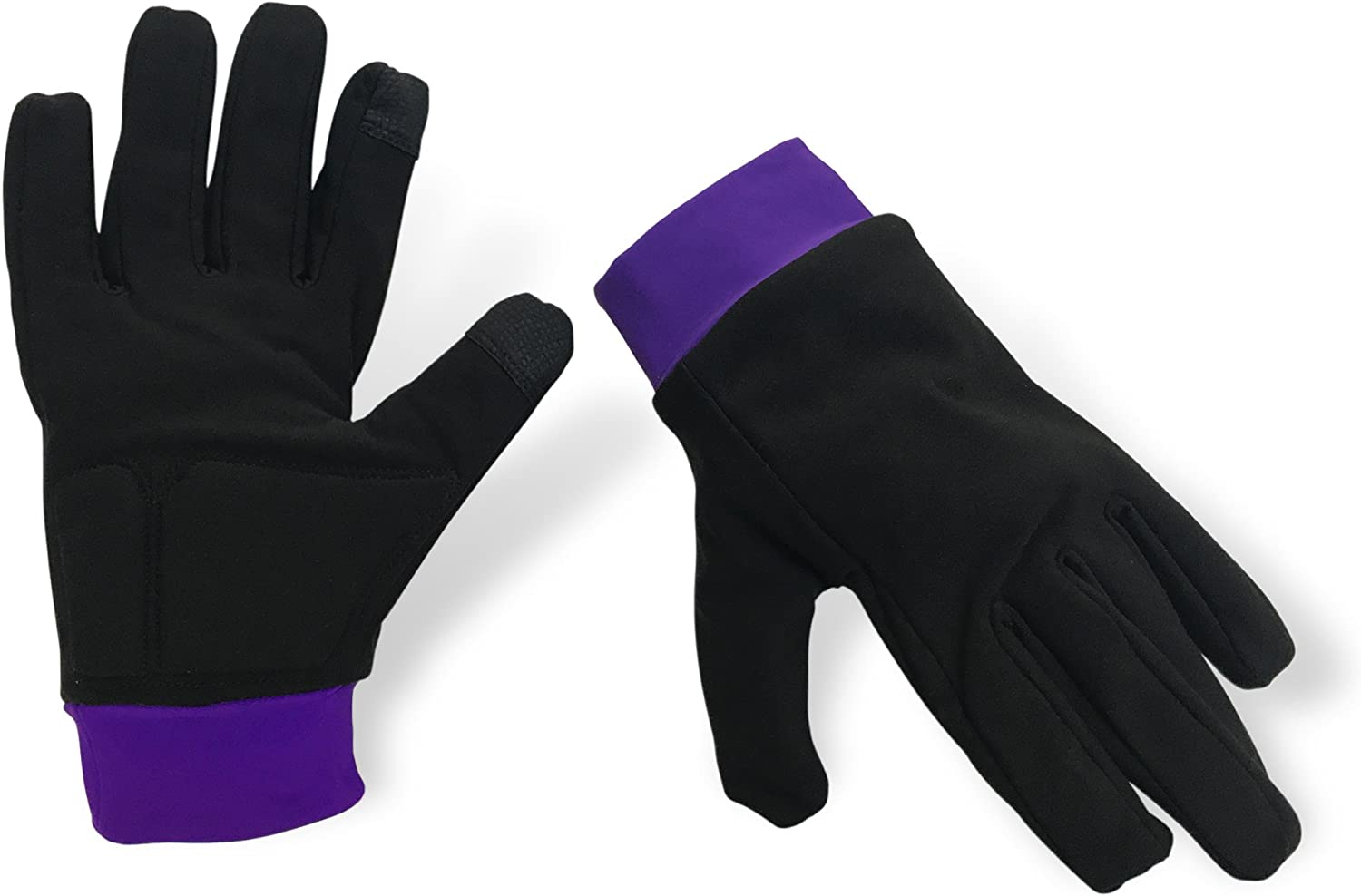 ColorFlow Skating Water-Resistant Ice Skating Gloves with Protective Padding, Touchscreen Fingertips, Fleece Lining: Sports & Outdoors