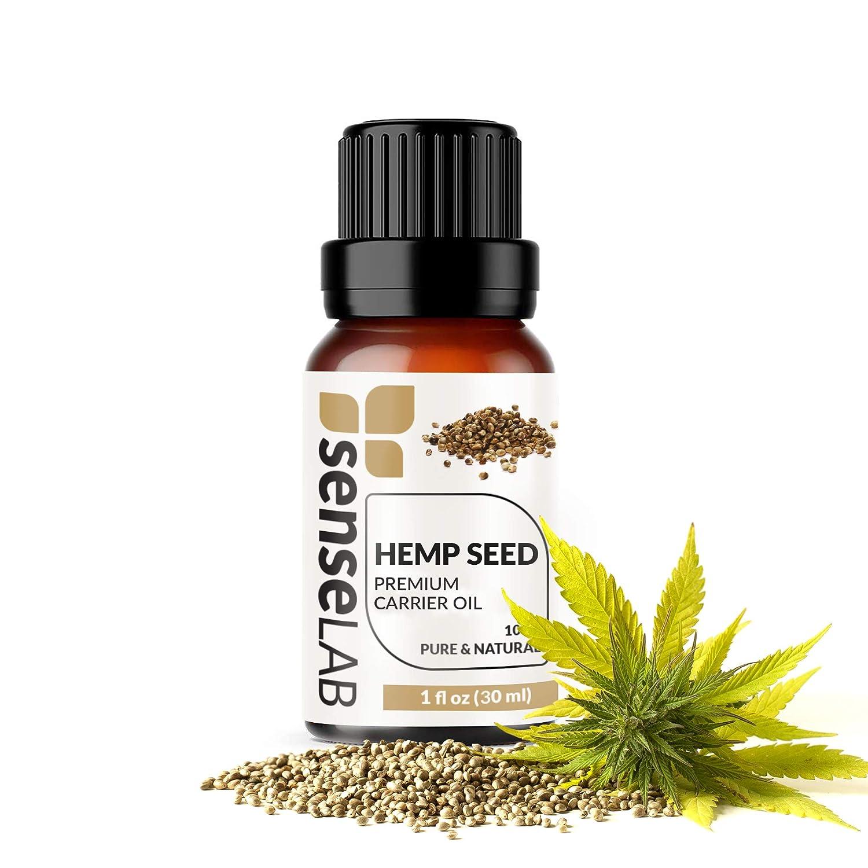 Hemp Seed Oil - 100% Pure Extract Hemp Seed Carrier Oil Therapeutic Grade (1 Fl Oz / 30 ml)