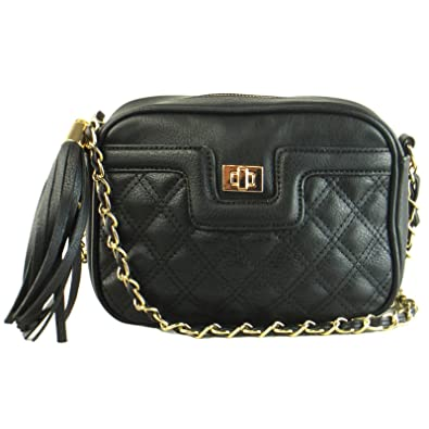 20ab287ebd9 Xardi London Small Quilted Women Girls Shoulder Bags Faux Leather Ladies  Cross Body Saddle UK