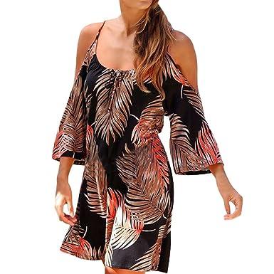 Damark(TM)) Vestidos Mujer Casual Vestido de Verano Largo ...