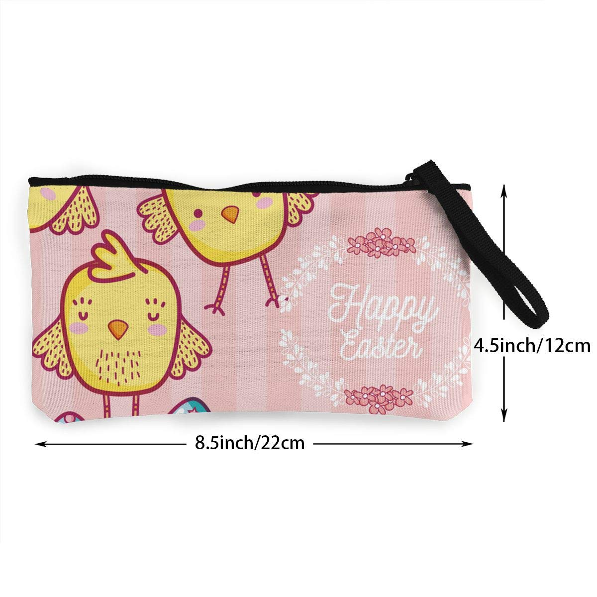 Maple Memories Easter Chicken Eggs Portable Canvas Coin Purse Change Purse Pouch Mini Wallet Gifts For Women Girls