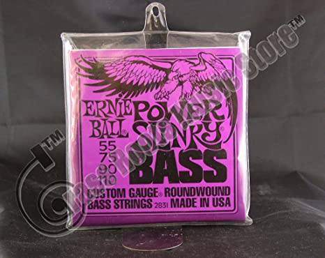 Bulk 6 Sets Ernie Ball Power Slinky (55 - 110) calibre cuerdas para ...