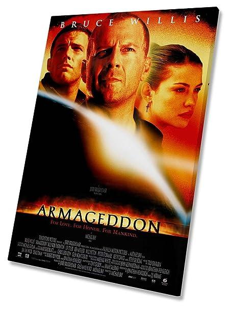 armageddon film movie poster canvas wall art framed print 20 x 30