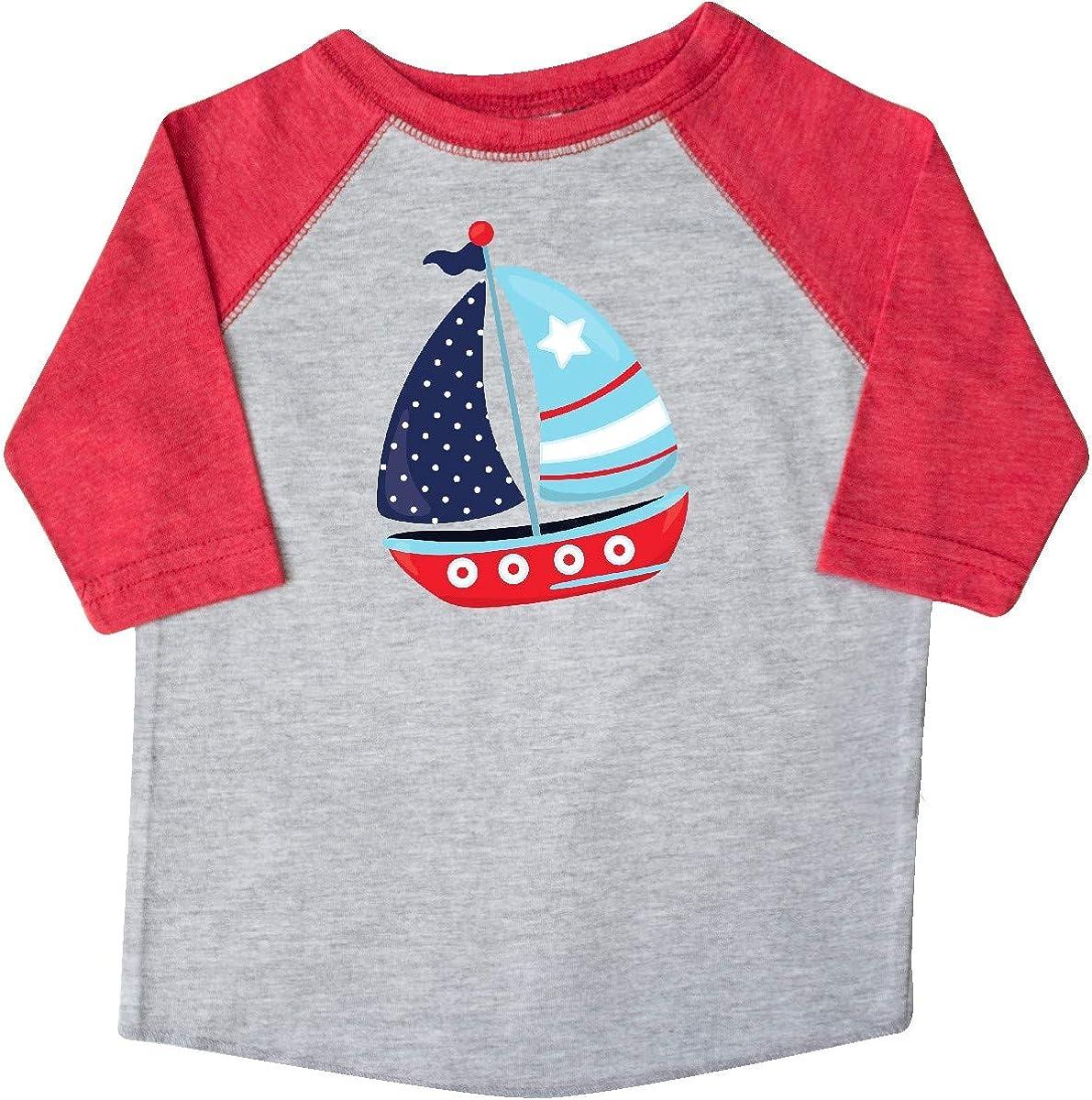 Sails Sailing Boat inktastic Sailboat Red Blue White Toddler T-Shirt