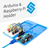 SunFounder RAB Holder Raspberry Pi Uno Breadboard Holder 5 in 1 Base Plate for Arduino Uno R3 Mega 2560, Raspberry Pi 3B+ 3B 2 Model B 1 Model B and 400 800 Points Breadboard