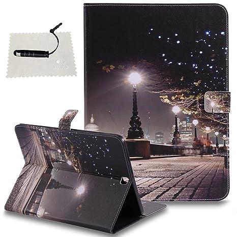 TOCASO Schutzhülle kompatibel für Samsung Galaxy Tab S2 9.7 (T815) Leder Wallet Hülle Brieftasche Handyhülle Klapphülle Rücks