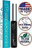 Premium Eyelash Growth Serum Eyebrow Growth - Vegan Lash Boost 8,5 ML - Best Eyelash Conditioner - Brow Enhancer - USA Made Irritation Free Formula …