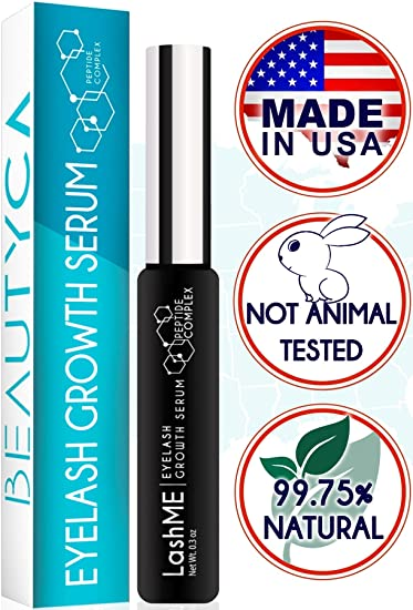 3f3049968c2 Amazon.com: Eyelash Growth Serum Eyebrow Growth - Vegan Lash Boost 8,5 ML -  Best Eyelash Conditioner - Brow Enhancer - USA Made Irritaion Free Formula:  ...