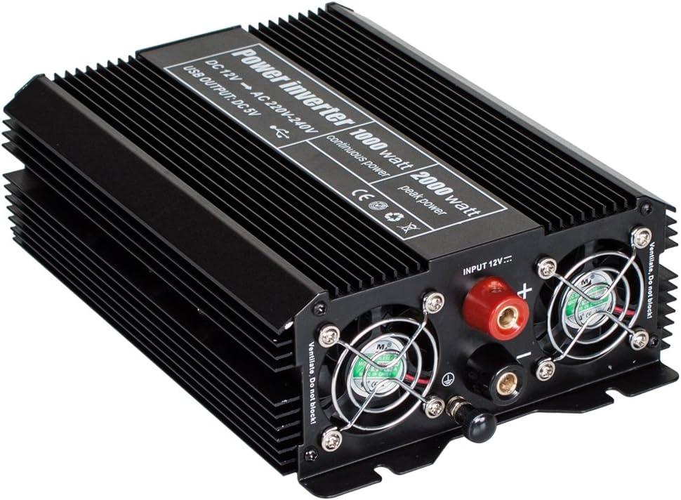 400977 Type 2 TecTake Convertisseur de Tension Sinus modifi/ée Power Inverter 12V en 220V diverses mod/èles au choix -
