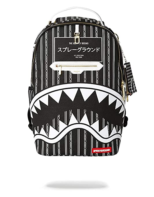 SPRAYGROUND BACKPACK REVERSE SHARKS IN PARIS (BLACK)