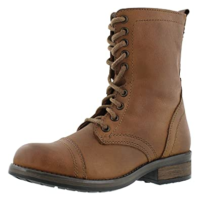 Amazon.com | Steve Madden Women's Troopa 4.0 Lace Up Combat Boot ...
