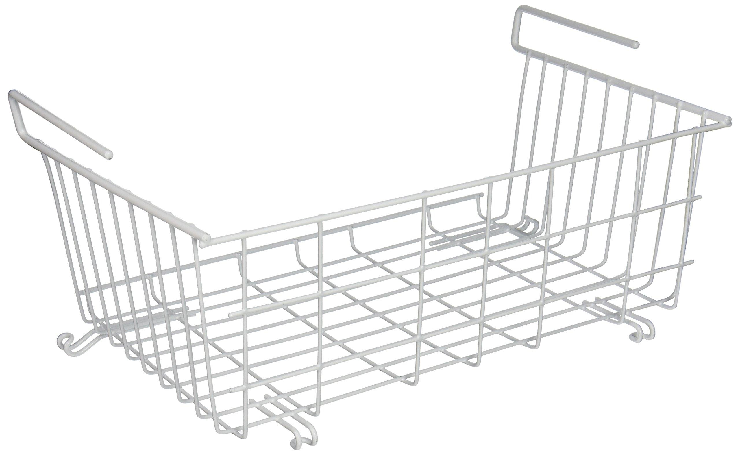 Grayline 40606, Medium Hanging Stack Basket, White