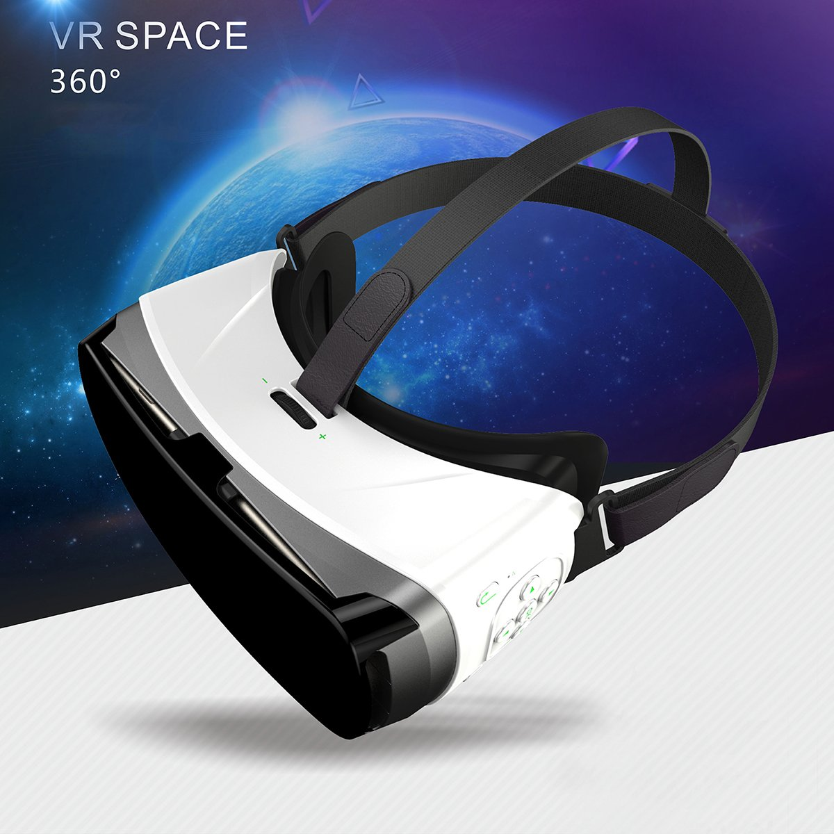 3D Virtual Reality Headset 3D Virtual Reality Glasses for 360° Video, Movies, Pictures for IOS Android smartphone