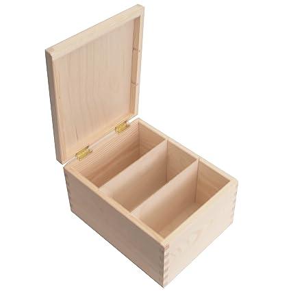 SearchBox Caja de Almacenamiento Rectangular de Madera con separadores Ideal para fotografías/Letras/Post