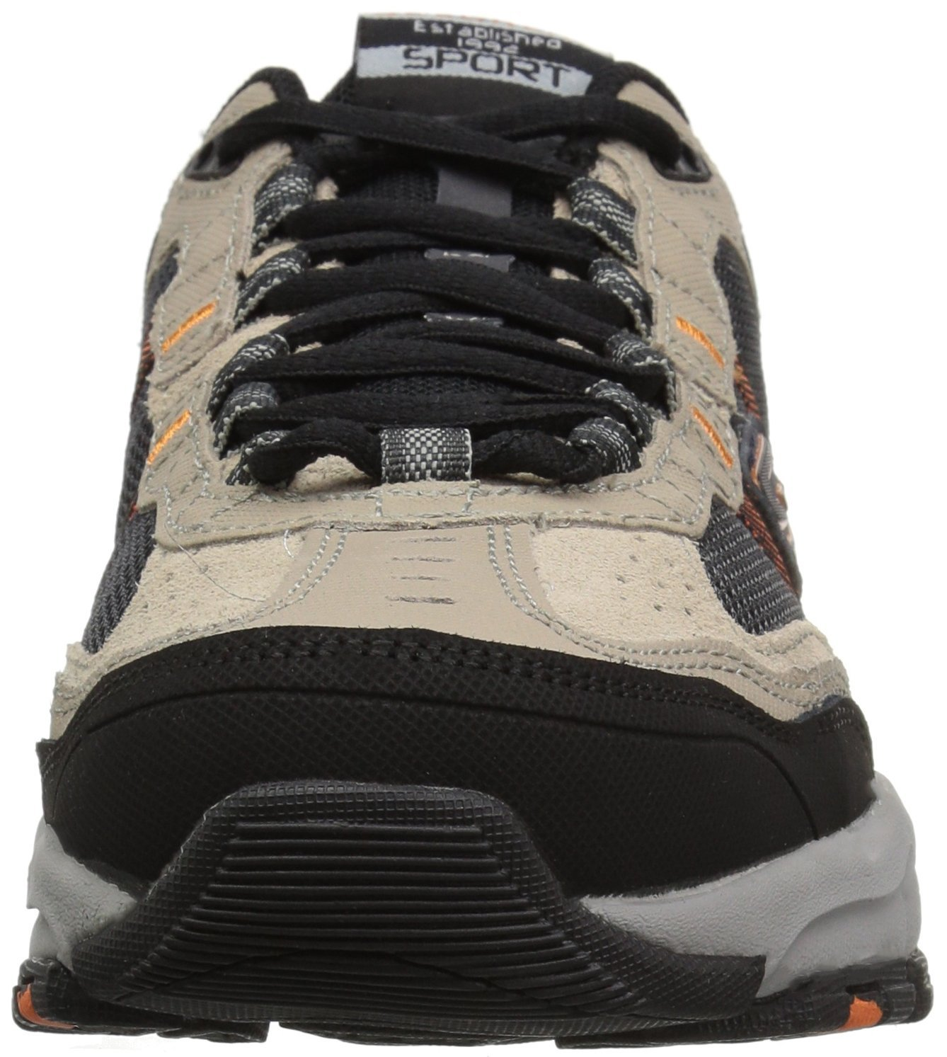 Skechers Sport Men's Vigor 2.0 Trait Memory Foam Sneaker, Taupe/Black, 7 M US by Skechers (Image #4)