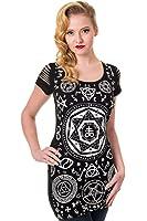 Banned - PENTA BLACK TOP - Kleid T-Shirt Schwarz S - L