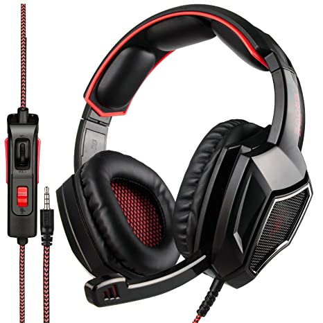 b4491cf2cd454f Amazon.com: [Newest Updately] Sades SA920 Wired Stereo Gaming Headset Over  Ear Headphones with Microphone for New Xbox One / PS4 / PC /Cell phones- ...
