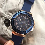 Amazon.com: GUESS Men's Rigor Iconic Blue Stain Resistant ...