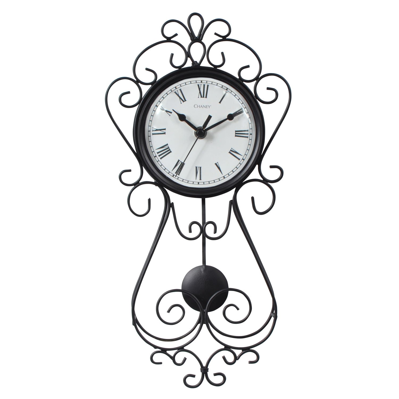 Amazon chaney instrument 75374 wrought iron metal pendulum amazon chaney instrument 75374 wrought iron metal pendulum wall clock 165 home kitchen amipublicfo Choice Image