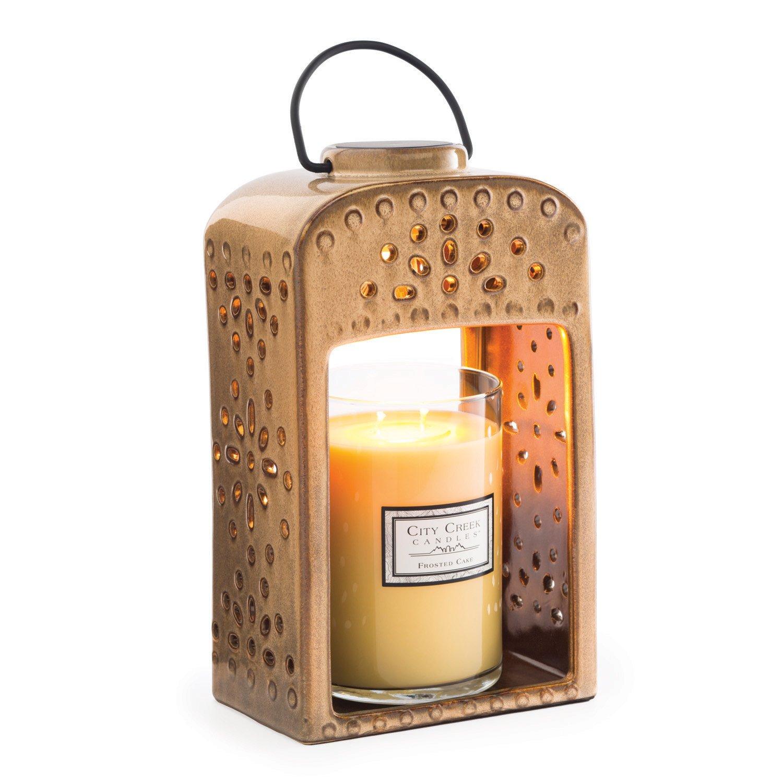 Candle Warmers Etc. Ceramic Candle Warmer Lantern, Pierced