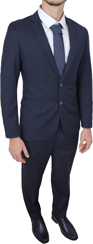 Trade Abito Completo Uomo Sartoriale Blu Scuro Vestito Smoking Elegante V