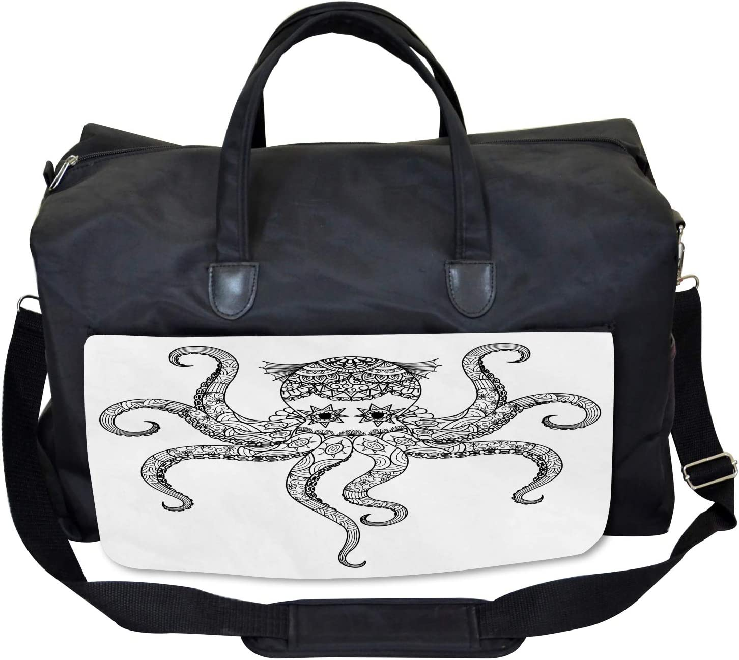 Mandala Tribal Ethnic Large Weekender Carry-on Ambesonne Octopus Gym Bag