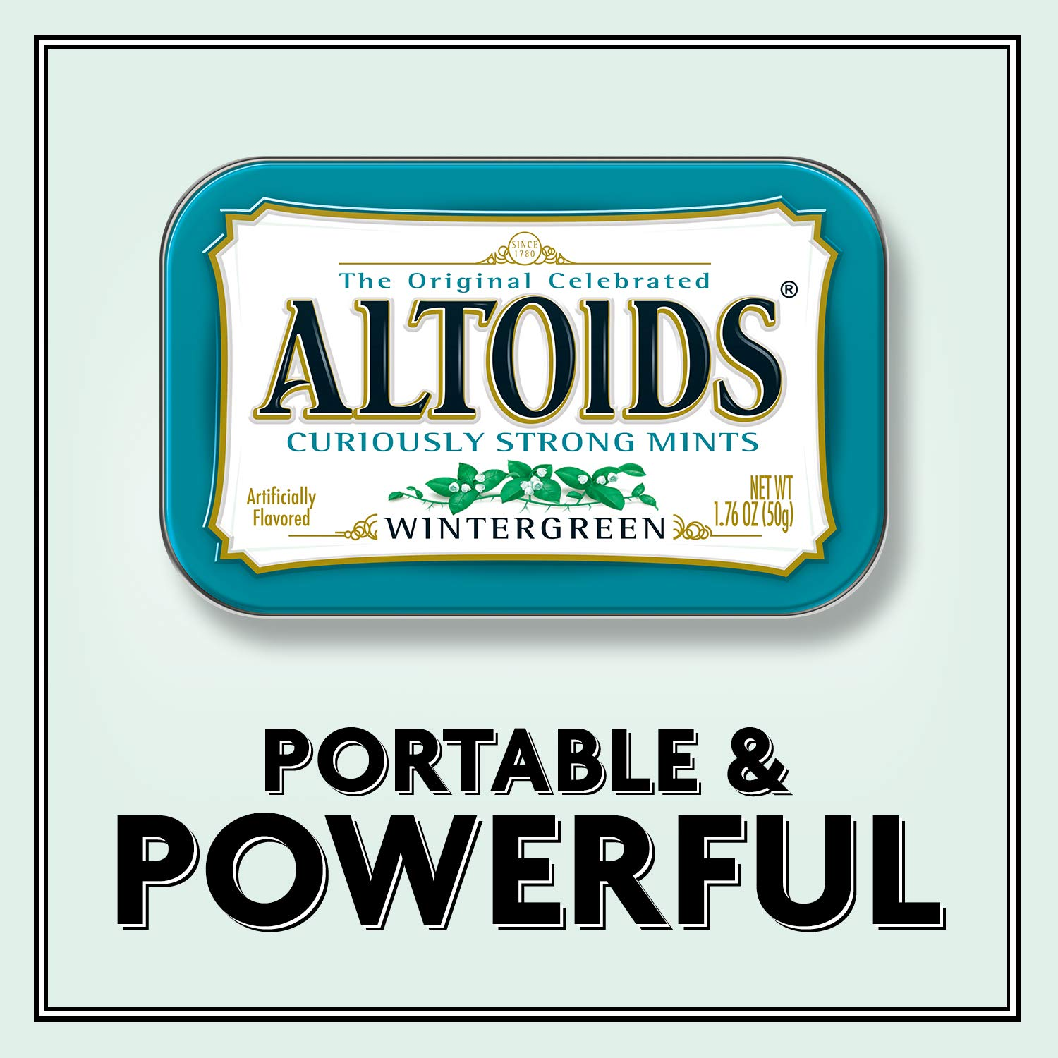 ALTOIDS Classic Wintergreen Breath Mints, 1.76-Ounce Tin (Pack of 12) by Altoids (Image #8)