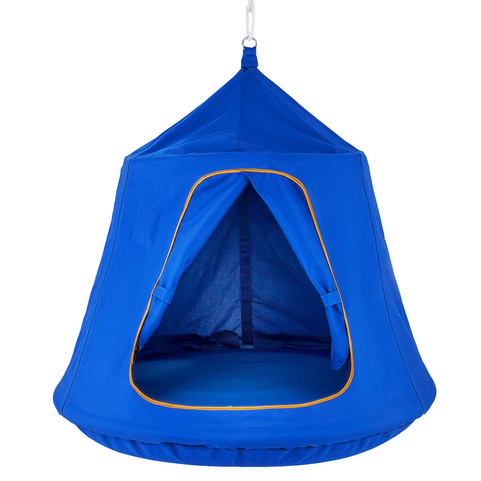 Mophorn Hanging Tree Tent 45 diam x 54 H Hanging Tent Swing Tent Waterproof Hanging Tree&Ceiling Hammock Tent Green Kids Outdoor Tents Playhouses (Blue) by Mophorn (Image #5)