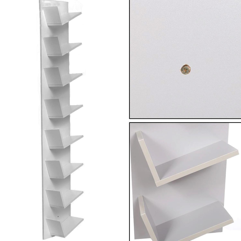 Bulges New Home CD DVD Rack Cabinets Tall Wood Bookcase Bookshelf Storage Shelf Shelves Gray by Bulges (Image #6)