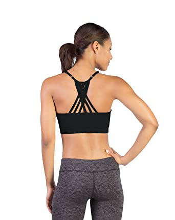 e496d87ae Covalent Activewear Supportive Argyle Sports Bra with Criss-Cross Straps   Scoop  Neckline Dance
