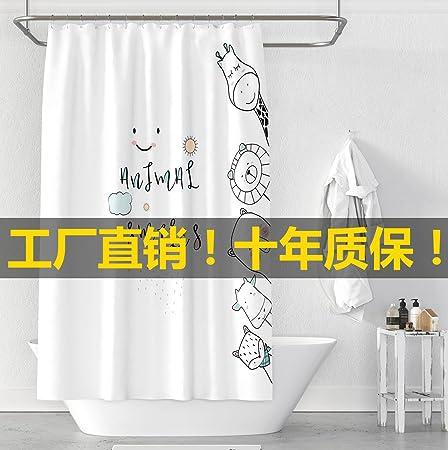 ZXY INS Nordic Light personalizada de cuarto de baño, Cuarto de baño, Cortina, cortina de ducha, mampara, impermeable, a prueba de moho engrosamiento, y personalizado.,Amplia 200 * altura 180 (engrosamiento): Amazon.es: Hogar