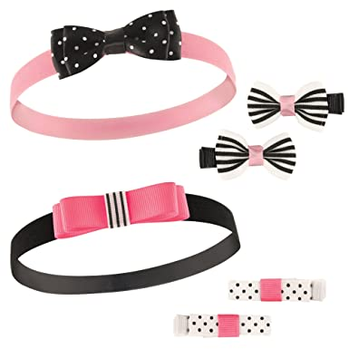 Amazon.com  Hudson Baby Baby Girls  Headbands and Hair Clips ccd3a554856