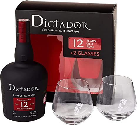 Ron Dictador 12 Años + 2 Vasos De 70Cl: Amazon.es ...